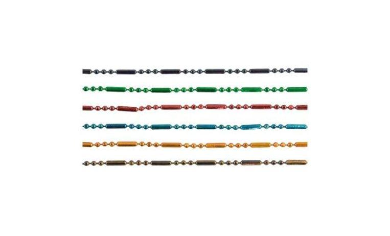 Set 6 cadenas metal coloreado