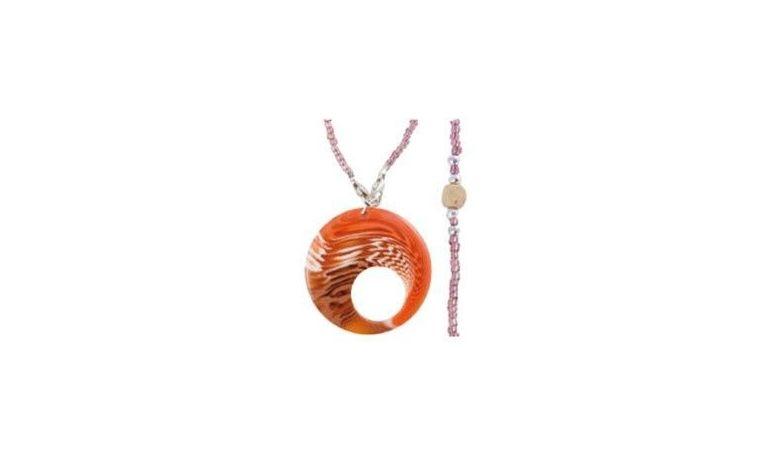 Small fantasy glass pendant